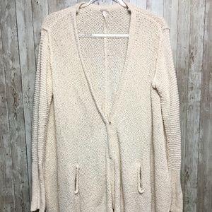 Free People Long Sleeve Cardigan Sweater